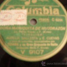 Discos de pizarra: CONCHITA PAEZ Y F. MUÑOZ. CANCION DEL PIRATA + AURELIA BALLESTA Y E. CUEVAS. TIROLIRO.. Lote 8834469