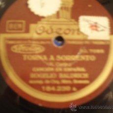 Discos de pizarra: ROGELIO BALDRICH.TORNA A SORRENTO + OH MARY MARY. . Lote 8843651