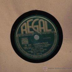Discos de pizarra: FRANKIE LAINE : SI ME ABANDONAS + FLAMENCO. Lote 16214365
