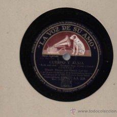Discos de pizarra: DINAH SHORE & HENRY LEVINE & OCTETO DIXIELAND : CUERPO Y ALMA + CLUG CLUG. Lote 16160920