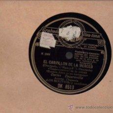 Discos de pizarra: CARLOS CASARAVILLA Y ORQUESTA LOS BOLIVIOS : EL CARRILLON DE LA MERCED + SEÑOR. Lote 16189355