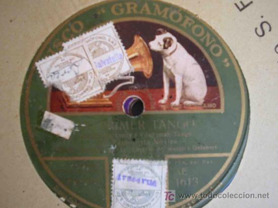 RAMONCITA ROVIRA : EL PRIMER TANGO ; LA CIEGUITA. TANGOS. GRAMOFONO AE 1613 (Música - Discos - Pizarra - Solistas Melódicos y Bailables)