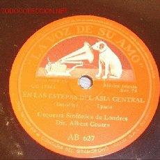 Discos de pizarra: ANTIGUO DISCO DE GRAMÓFONO LA VOZ DE SU AMO -EN LAS ESTEPAS DEL ASIA CENTRAL- AÑOS 30.. Lote 1461207