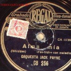 Discos de pizarra: ANTIGUO DISCO DE GRAMÓFONO REGAL -ALMA MÍA- Y -LÁGRIMAS- HACIA 1915.. Lote 1482176