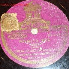 Discos de pizarra: ANTIGUO DISCO DE GRAMÓFONO ODEON -MAMITA MÍA- Y -UNA PLEGARIA- AÑOS 20.. Lote 1482948