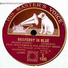 Dischi in gommalacca: PAUL WHITEMAN (RHAPSODY IN BLUE) HMV. Lote 1594690