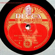 Discos de pizarra: BOB CROSBY & HIS ORCHESTRA ( EC ESRACY - CHAIN GANG) 78RPM. Lote 1595286