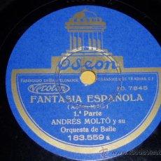 Discos de pizarra: DISCO 78 RPM - ANDRÉS MOLTÓ Y SU ORQUESTA - ODEON - PIZARRA. Lote 9983692