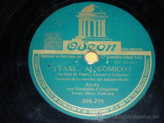 DISCO 78 RPM - ALADY - GEMA DEL RÍO - MARUJA TAMAYO - ODEON - PIZARRA (Música - Discos - Pizarra - Solistas Melódicos y Bailables)