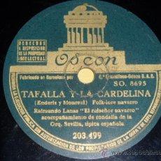 Discos de pizarra: DISCO 78 RPM - RAIMUNDO LANAS EL RUISEÑOR NAVARRO - ODEON - NAVARRA - PIZARRA. Lote 9984942