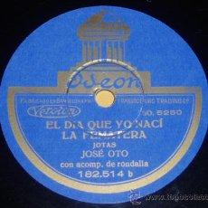 Discos de pizarra: DISCO 78 RPM - JOSÉ OTO - JOTAS - ODEON - PIZARRA. Lote 9984997