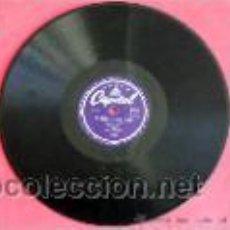 Discos de pizarra: LOUIS ARMSTRONG VOCAL & HIS HOT SIX (BLUES FOR YESTERDAY - A SONG WAS BORN) ENGLAND HMV. Lote 10002449
