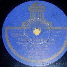 Discos de pizarra - DISCO 78 RPM - NIÑO DE LA HUERTA - MANOLO DE BADAJOZ - GUITARRA - ODEON - FLAMENCO - PIZARRA - 10045726