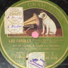 Discos de pizarra: PIZARRA LOS FAROLES POR MIGUEL LIGERO... - . Lote 10415822