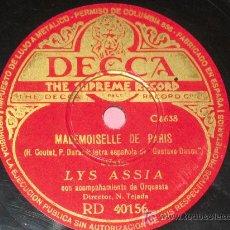 Discos de pizarra - PIZARRA LYS ASSIA - MINUIT , MADEMOISELLE DE PARIS - 10415855