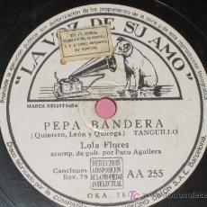 Discos de pizarra: PIZARRA .LOLA FLORES - JURAMENTO TE DARE, PEPA BANDERA. Lote 10415902