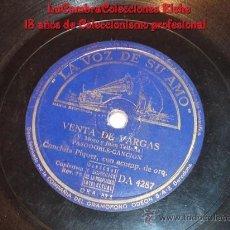 Discos de pizarra: EXCELENTE DISCO DE GRAMOFONO ORIGINAL, LA VOZ DE SU AMO, CONCHA CONCHITA PIQUER.. Lote 13353804