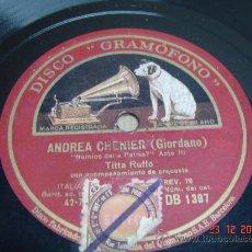 Discos de pizarra: DISCO PIZARRA GRAMOFONO LAFRICANA -ANDREA CHENIER . Lote 22945336