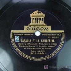 Discos de pizarra: TAFALLA Y LA CARDELINA / LOS MONEGROS Y LOS FUEROS. RAIMUNDO LANAS Y RONDALLA. NAVARRO. NAVARRA.. Lote 24731095