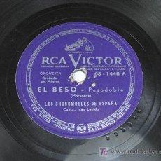 Discos de pizarra: RCA VICTOR. EL BESO / PARESITO FARAON. LOS CHURUMBELES DE ESPAÑA. JUAN LEGIDO. Lote 15949271