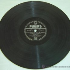 Discos de pizarra: DISCO PIZARRA PHILIPS -LA CANCION DEL MOULIN ROUGE & RAPSODIA SUECA. Lote 11765423