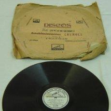Discos de pizarra: DISCO PIZARRA LA VOZ DE SU AMO -SCHEHERAZADE-EST.CRUMOLS-FIGUERAS-ORQ. SINF. FILADELFIA. Lote 13658936