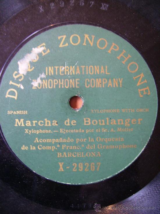 MARCHA DE BOULANGER, UNA CARA (Música - Discos - Pizarra - Jazz, Blues, R&B, Soul y Gospel)