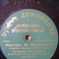 Discos de pizarra: MARCHA DE BOULANGER, UNA CARA. Lote 26604983