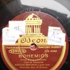 Discos de pizarra: GIGANTES Y CABEZUDOS. BOHEMIOS. DOS CARAS. Lote 26674805