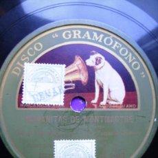 Discos de pizarra: TANGO MAÑANITAS DE MONTMARTRE, Y BARRIO REO . Lote 26696182