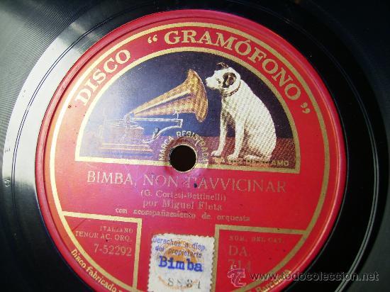 Discos de pizarra: amapola, tango cancion, y bimba non t´avvicinar - Foto 2 - 26787208