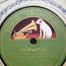 Discos de pizarra: PEREZOSOS Y CARIÑO MIO, PERFECTO. Lote 27015173