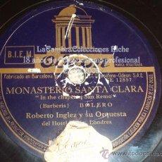 Discos de pizarra: DISCO DE GRAMOFONO ORIGINAL, MUY ANTIGUO, . Lote 12142280