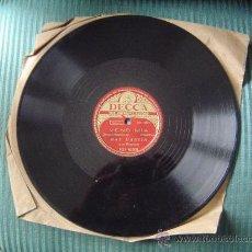 Discos de pizarra: DISCO DE PIZARRA DECCA.. Lote 12211820