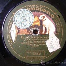 Discos de pizarra: ENSAYO DE ORQUESTA Y EN UNA FUENTE DE VECINOS ESCENA COMICA MUSICAL. Lote 27147301