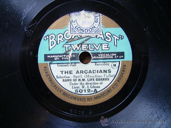 BROADCAST TWELVE, THE ARCADIANS POR LAS DOS CARAS (Música - Discos - Pizarra - Otros estilos)