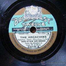 Discos de pizarra: BROADCAST TWELVE, THE ARCADIANS POR LAS DOS CARAS . Lote 27147307