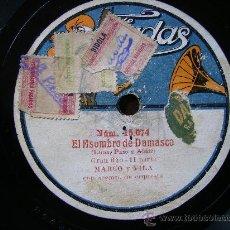 Discos de pizarra: EL ASOMBRO DE DAMASCO, POR UNA CARA PRIMERA PARTE POR LA OTRA SEGUNDA PARTE. Lote 27170691
