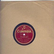 Discos de pizarra: SAN JULIAN - COLUMBIA - RIGOLETTO- HAMLET,BRINDIS - AL PIANO, PIPI. Lote 27324282