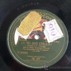 Discos de pizarra: CARMEN FLORES ¡ Y A MUCHA HONRA! DISCO DE PIZARRA 78 RPM LA VOZ DE SU AMO. Lote 14034196