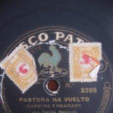 Discos de pizarra: PASTORA HA VUELTO POR EMILIA NAVARRO. Lote 27505305