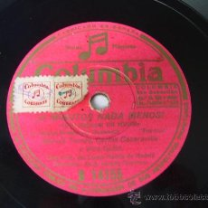 Discos de pizarra: MARUJA TOMÁS, CARLOS CASARAVILLA Y VICE-TIPLES ¡ 5 MINUTOS NADA MENOS! COLUMBIA 78 RPM PIZARRA. Lote 18296941