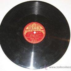 Discos de pizarra: DISCO DE PIZARRA ANTÓN KARAS - EL TERCER HOMBRE: HARRY LIME / EL CAFE MOZART. Lote 13417332