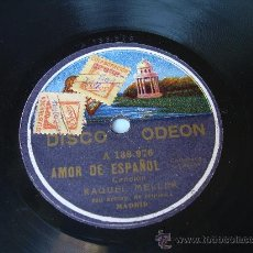 Discos de pizarra: RAQUEL MELLER ACUÉRDATE DE MI ODEÓN PIZARRA 78 RPM. Lote 15153030