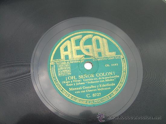 MANUEL GOZALBO Y EDERLINDA HAY QUE OIR REGAL PIZARRA 78 RPM (Música - Discos - Pizarra - Flamenco, Canción española y Cuplé)