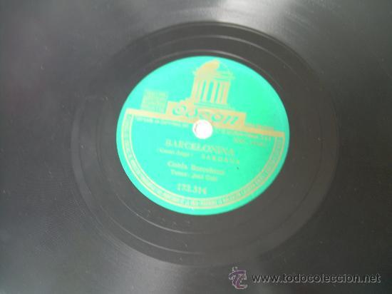 COBLA BARCELONA CANT DE JOIA SARDANA CATALUÑA ODEÓN PIZARRA 78 RPM (Música - Discos - Pizarra - Flamenco, Canción española y Cuplé)
