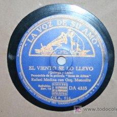 Discos de pizarra: DISCO PIZARRA - RAFAEL MEDINA CON ORQ. MONTOLIU / MARUJA TOMAS - QUE DIOS TE AMPARE / EL VIENTO SE... Lote 26894258