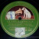 Discos de pizarra: DISCO 78 RPM - MANUEL CENTENO Y EL PENA HIJO CON MONTOYA (GUITARRA) - GRAMÓFONO - FLAMENCO - PIZARRA. Lote 14001148