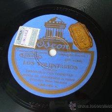Discos de pizarra: BANDA DE INGENIEROS DE MADRID - LOS VOLUNTARIOS - PASODOBLE - ODEON - PIZARRA 78 RPM. Lote 14287335
