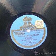 Discos de pizarra: BANDA UNIÓN MUSICAL DE LIRIA - L'ENTRÁ DE LA MURTA - ODEÓN - PIZARRA 78 RPM. Lote 15065638